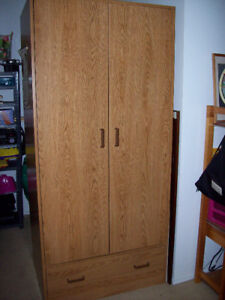 Wardrobe with drawer,  wood