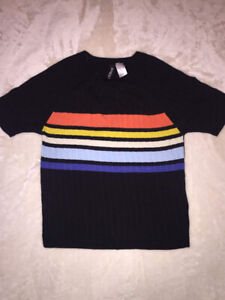 H&M Slightly Crop Coloured T-shirt