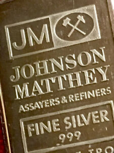 1 oz Johnson Matthey Fine Silver Bars ~ Early Issues