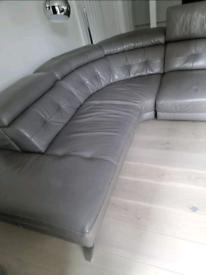 Large leather corner sofa for sale