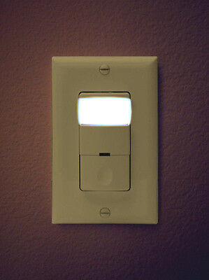 Led Night Light Energy Saving Motion Switch Ivory Occupancy Vacancy Sensor