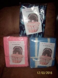 Knitted baby carseat blankets