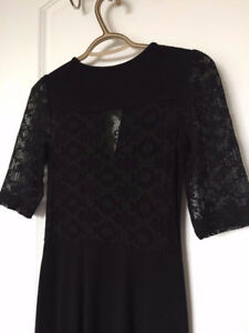 FRENCH CONNECTION BLACK DRESS, SIZE 0