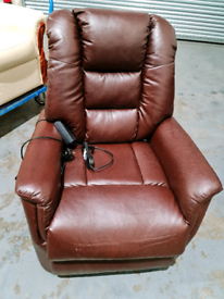 Care Co Brown Leather look Chair