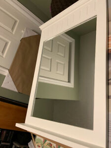 White Mirror with small shelf