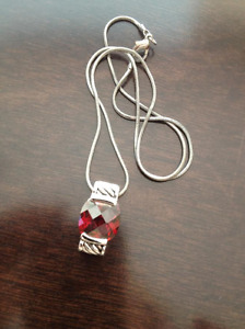 Ruby/Silver Pendent