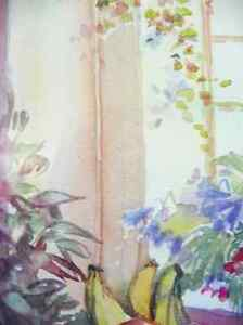 """A Morning Table by Nell LaMarsh """"Morning, By the Window"""" 1970's Stratford Kitchener Area image 9"""