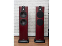Wharfedale Jade 5. Burgundy Cherry Audiophile speakers. Perfect condition.