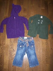 Old Navy Knit Sweaters & Jeans, Girls 12-18 months