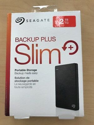 New Seagate Backup Plus Slim 2TB External Hard Drive PC/Mac Compatible