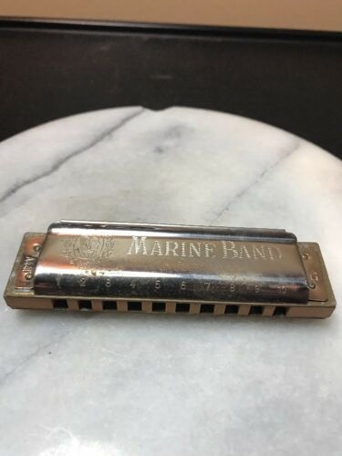 Vintage M. Hohner Marine Band Harmonica 1896 Key Of G.in Box Made In Germany - $24.97