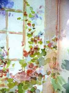 """A Morning Table by Nell LaMarsh """"Morning, By the Window"""" 1970's Stratford Kitchener Area image 10"""