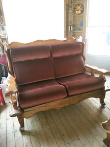 Solid wood Sofa, loveseat, chair