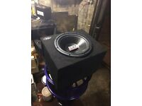 "12"" Mtx sub / subwoofer plus amp / amplifier"