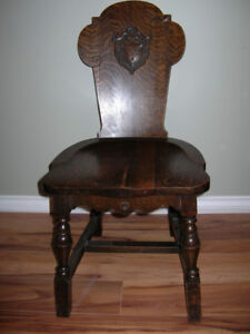 Beautiful antique dark stained oak chair