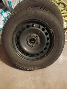 Volkswagen VW Jetta All Season & Winter Tires on Steel Rims