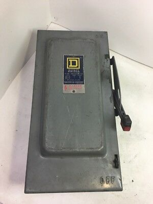 Square D Series D2 Heavy Duty Safety Switch 60 Amps 600v A.c. 250v D. C. Hu362