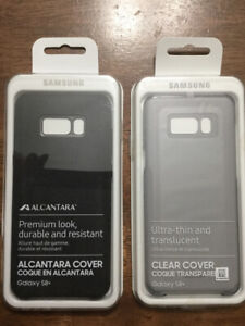 Original Samsung Alcant / clear cover for Galaxy S8+, brand new