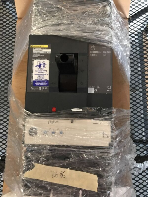 New  Square D Lgl36400cu31xsa 3 Pole 600 Volt 400 Amp Circuit Breaker