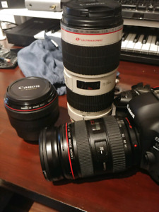 Selling Canon Lenses & 5d mark iv - willing to TRADE& NEGOTIATE