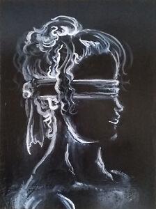 - ORIGINAL PAINTING / ARTWORK - Profile of Iustitia London Ontario image 1