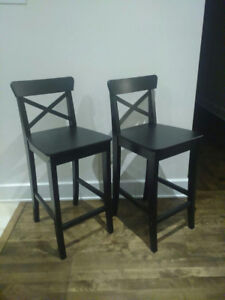 Ikea Bar stool with backrest