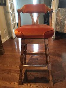 4 vintage Henderson swivel bar stools