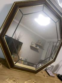 Octagon Mahogany Mirror