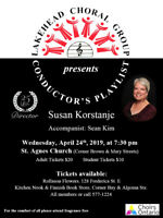 LAKEHEAD CHORAL GROUP SPRING CONCERT - APRIL 24