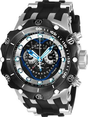 Invicta Mens Reserve 52mm Venom Hybrid Swiss Master Calendar Black Strap Watch