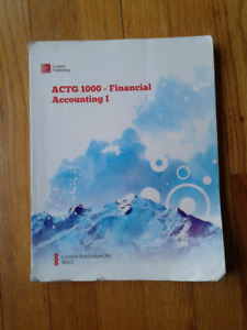 ACTG 1000 - Financial Accounting I Textbook