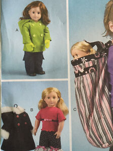 "Mccalls sewing patterns for American Girl and 18"" dolls Peterborough Peterborough Area image 4"
