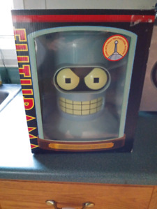 Collectors Futurama Bender head with dvds