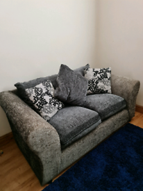 Grey 3 seater and 2 seater sofa