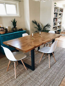 Custom Made Steel Leg Tables - Your size, style, & colour!