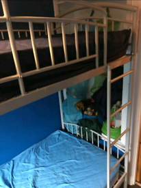 Bunk bed with mattresses. Good condition. Delivery available extra c
