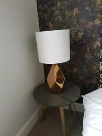 Brand New Lamp Side Table Grey Round Modern and Elegant design