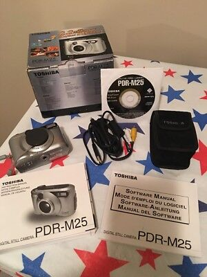 Toshiba PDR-M25 - 2.2 MP 3X Optical Zoom - Digital Still Camera With Disc-box