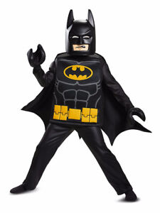 NEW: Lego Movie Batman Deluxe Kids Costume (Size 4-6 or 7-8)