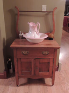 Antique commode with basin included