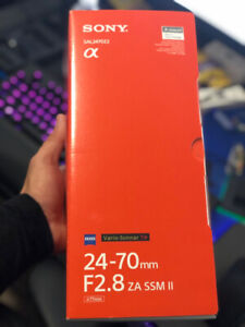 Brand New Sealed Sony Zeiss 24-70mm F2.8 Vario- Sonnar T Lens