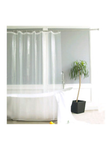 New. Premium shower curtain liner with rings