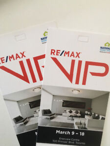 Vip National Home show tickets
