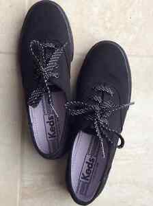 Keds black sneaker with polka dots shoe laces. Only worn a few