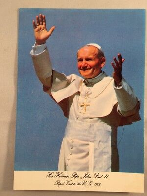 1982 Papal Visit His Holiness Pope John Paul II Postcard by John Hinde, Ireland