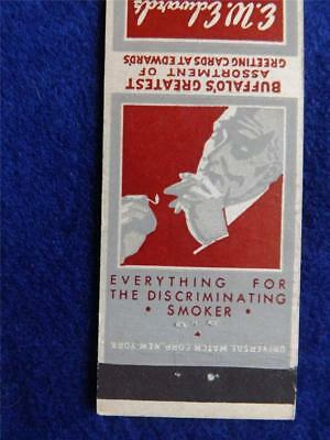 E W EDWARDS & SONS SMOKE SHOP THRIFT SQUARE BUFFALO NY VINTAGE MATCHBOOK