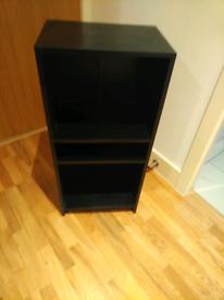 Black bookcase shelving unit - 1 meter