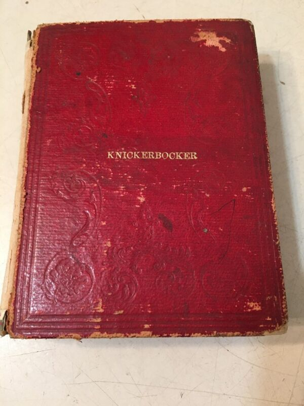 Rare Knickerbocker New York State Legislature Manual With Fold Out Diagrams 1854