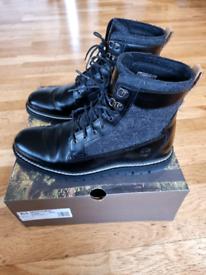Timberland mens black boots UK 10