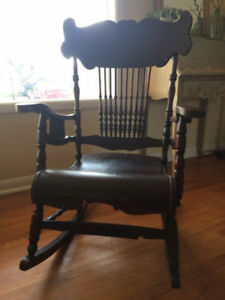 Espresso and Chocolate Antique Rocking Chair